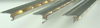 treppenprofile treppenkantenprofile treppenstufenprofile mit led licht rutschsicher. Black Bedroom Furniture Sets. Home Design Ideas